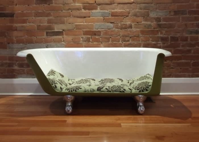 bath tub dog bed