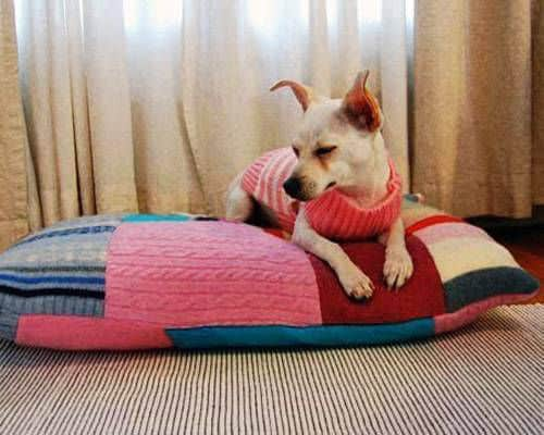 patchwork dog bed