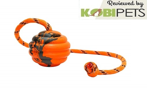 PlayfulSpirit Durable Natural Rubber Ball on a Rope